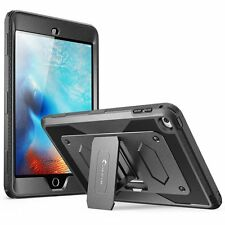 iPad Mini 4 Tough Kickstand Case with Front Cover and Built-in Screen Protector