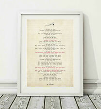 144 Indiana - Ink - Song Lyric Art Poster Print - Sizes A4 A3