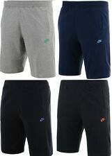 Mens Nike Fleece Jogging Shorts Knee Length Jersey Sports Gym Training Shorts