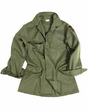 Genuine US Army Issue Military Combat Air Force Olive Green Fatigue Shirt