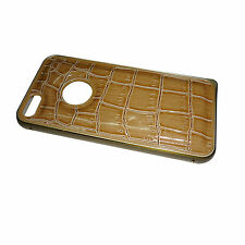 Snake Texture Leather With Aluminium Bumper Cover Case for Apple iPhone 5 5S