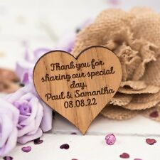 Personalised Wooden Heart Table Decorations Vintage Wedding Favours Confetti