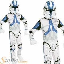 Boys Clone Trooper Costume Star Wars Fancy Dress Child Outfit
