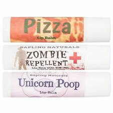 Moisturizing Cocoa Butter Lip Balm Unicorn Poop Zombie Repellent Pizza Flavours