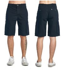 Levi's Mens Ace Cargo Twill Cotton Shorts Regular Relaxed Fit Trunks Pants Black