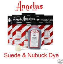 SUEDE DYE 15 COLOURS ANGELUS  - FOR DYING MENS or LADIES BOOTS SHOES  BAGS