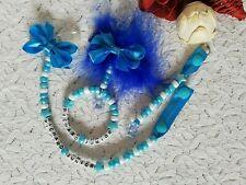 PERSONALISED 3 PIECE CIRCLE PRAM CHARM SET INC DUMMY CLIP, BAG CHARM AND FEATHER