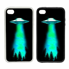 Alieno Abduction - gomma e Plastica Cover Cellulare Case- X Files Ispirato