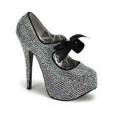 Escarpin Glamour et Lacet Argent PLEASERPleaser USA Shoes