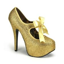 Escarpin Glamour et Lacet Or PLEASERPleaser USA Shoes