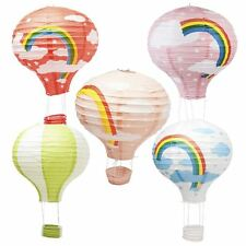 "12"" Rainbow Hot Air Balloon Paper Lampshade Lantern Ceiling Light Shade"