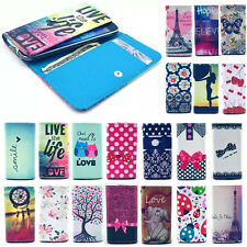 Universal Wallet Card Flip PU Leather Case Cover For Nokia Mobile Phones