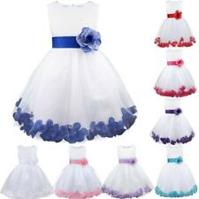 Girls Flower Bridesmaid Wedding Party Princess Christening Pageant Dress Formal
