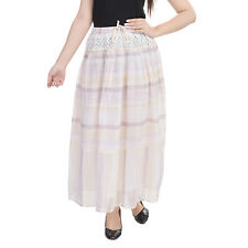 Goodwill Impex Casual Wear Gray Cotton Skirt