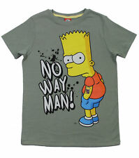 The Simpsons T-Shirt Bart Simpson No way man! khaki