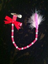 PERSONALISED HAIR BRAID BEADS, WITH OR WITHOUT FEATHER, MANY COLOURS