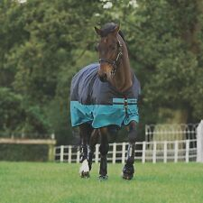Horseware Amigo Mio Turnout medium 200g - Black with Turquoise& Black
