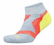 Balega Enduro Low Cut Cool Blue Coral Neon Yellow Running Socks Support Cushion