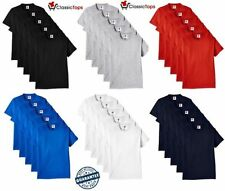 Classictops pack of 5 plain t shirt mens t shirts womens 100% cotton t-shirts