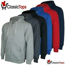 Classictops Mens Womens Plain Hoodies Jacket Zip Hoody Sweatshirt Fleece Top
