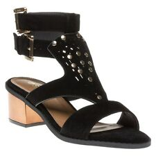 New Womens SOLE Black Mindy Synthetic Sandals Gladiators Buckle