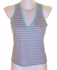 Bnwt Women's French Connection Sleeveless Striped T Shirt Stretch Vest Tank Top