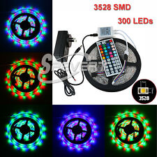 5M SMD3528 300 LED Flexible Strip Light & IR Remote Control & 2A Power Adapter