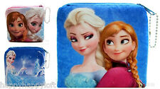 CUTE SOFT FROZEN KIDS GIRLS COIN PURSE WALLET FLUFFY BIRTHDAY GIFT ELSA ANNA