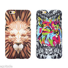 Printed Hard Back Cover Case 3D Colour Animals for Apple iPhone 6S & 6