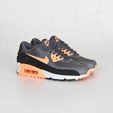 Nike Wmns Air Max 90 Essential Grey/Sunset Glow Trainers Shoes UK 3.5_4.5_5_6_7