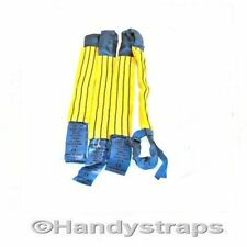 "4 x 18"" Recovery Trailer Transporter Wheel Straps soft Rings Bridging Strap"