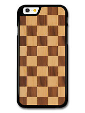 Wooden Effect Chequerboard Pattern in Different Stains case for iPhone & Samsung