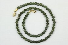 5mm Jade Necklace 5 mm Jade Beads Natural Green Jade Necklace Various Lengths