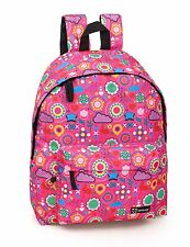 Girls Ladies Backpack Rucksack Pink Retro School Holiday Travel Work Laptop Bag