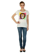 Duke Stardust Half sleeves Lion Printed Cotton Blend Womens T-shirt and Top