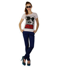 Duke Stardust Half Sleeves Graphic Printed Cotton Blend Womens T-shirt and Top