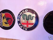 ALPHA ROMEO CENTER WHEEL HUB CAP DOMED STICKER, ALPHA ROMEO ALLOYS