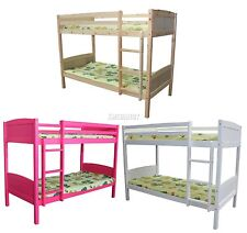 FoxHunter 3FT Wooden Frame Bunk Bed Wood Children Sleeper No Mattress Single New