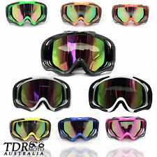 Adult Motocross Goggles BLACK/BLUE/GREEN/ORANGE/PINK/RED/SILVER/WHITE/YELLOW