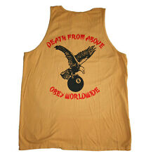 Canotta Obey uomo Obey Death from Above Premium Tank Mustard