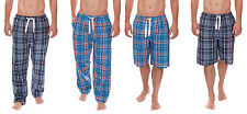 Mens Cargo Bay Woven Lounge Pants Bottoms Pyjamas Pjs Nightwear Checked Shorts