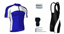 Mens Cycling Half Sleeve Jersey Top  Racing Biking Top + Bib shorts set