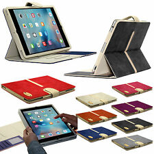 New Suede Leather Smart Book Case Wallet Detachable Cover for Apple iPad Models