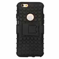 Johra Black Hybird Kick Stand Armor Back Cover For Apple Iphone 5G