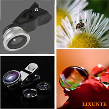 3in1 Clip Fisheye + Wide Angle + Macro Lens Camera Kit for Samsung iPhone 4 5S 6