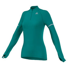 Neu! Adidas Sequencials Cc 1/2 Zip Long Sleeve Laufshirts Langarm Damen