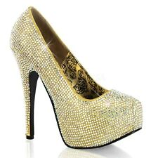 Escarpin Strass Teeze Or PLEASER