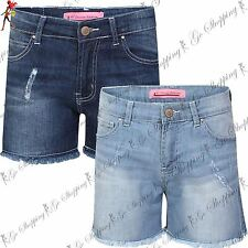 Womens NY DELUXE EDITION Beach Belted Faded Ladies Mini Ribbed Shorts Cotton