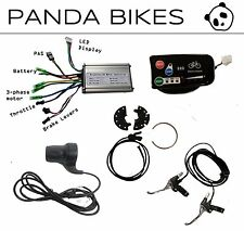DIY Electric Bicycle e Bike kit: display, controller, throttle, PAS, brakes.