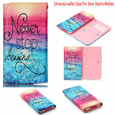 Never Stop Dreaming Universal Flip Leather Wallet Case Cover For Sony Phones